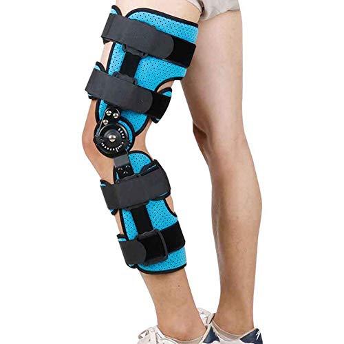 Ortesis de rodilla con bisagras - Ortesis de rodilla ajustable - Soporta desgarros de menisco, dolor de articulaciones artríticas, lesiones de ligamentos y esguinces Protector de pierna para férula