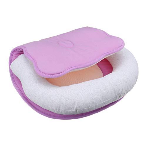 Yi-xir Mjuk och hållbar Andningsbar nyfödd baby spädbarn kudde sömnmatta anti matt huvud för spjälsäng nacke-suppor Lätt och snygg (Color : Purple.)