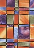 Fablon Fine Décor Barcelona - Rollo Adhesivo para Ventanas (67,5 x 200cm), diseño de mosaicos