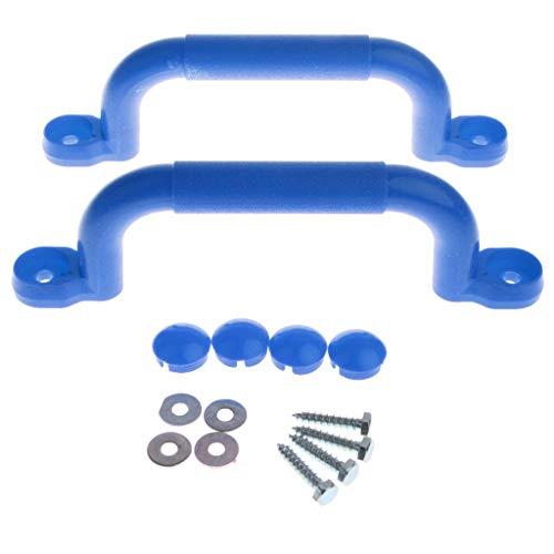 F Fityle 2er-Set Haltegriffe Für Spielgeräte, Spieltürme, Stelzenhäuser, Spielhäuser und Spielanlagen - Blau