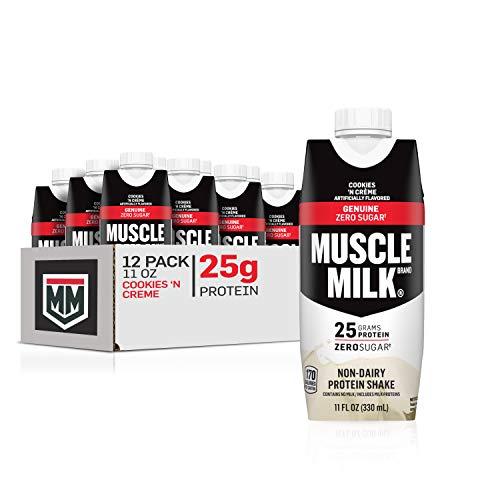 Muscle Milk Genuine Protein Shake, Cookies 'N Crème, 25g Protein, 11 Fl Oz, 12 Pack