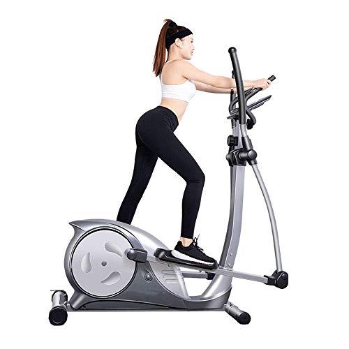 Máquina elíptica para el hogar, máquina de entrenamiento cruzado, equipo de fitness con control magnético ultra silencioso para el hogar, mini caminante para espacios pequeños, equipo para deportes d