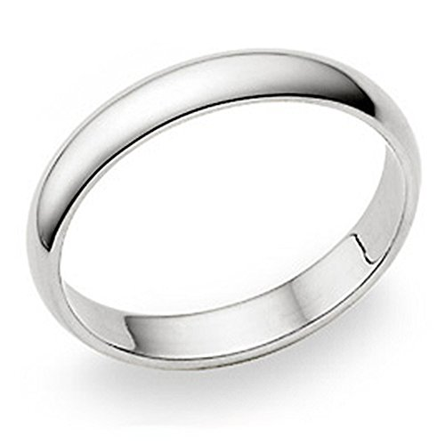 Metal Factory 4MM Sterling Silver High Polish Plain Dome Tarnish Resistant Comfort Fit Wedding Band Ring Sz 10.5