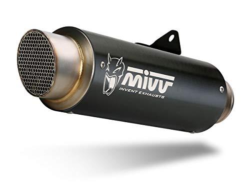 Tubo de Escape Completo 2 x 1 Mivv GP Pro Inoxidable Negro MT-07 2014-2018
