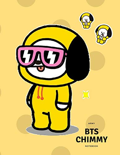 Kpop BTS BT21 CHIMMY Yellow Hoodie NoteBook For Boys And Girls: Wide Ruled Lined Big NoteBook  Personal Journal For ARMYs