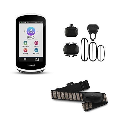 Garmin Edge 1030 - Pack GPS de Vélo Edge 1030 + Ceinture Cardio + Capteur de Candence et Capteur de Vitesse + Support Evolutif + Câbles et Fixation