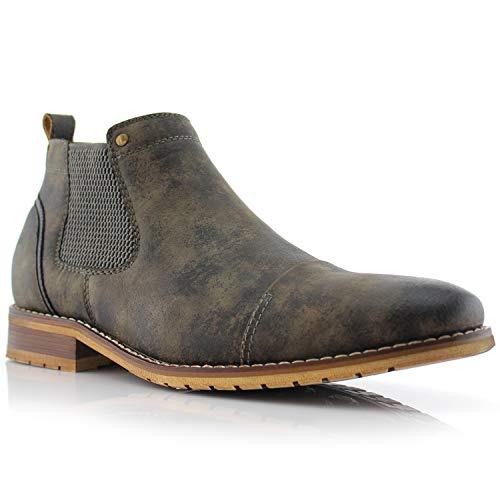 Ferro Aldo Sterling MFA606325 Mens Casual Chelsea Slip on Ankle Boots – Grey Size 10