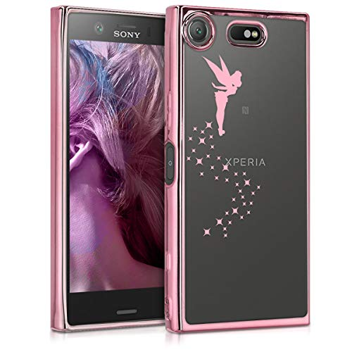 kwmobile Sony Xperia XZ1 Compact Hülle - Handyhülle für Sony Xperia XZ1 Compact - Handy Case in Fee Design Rosegold Transparent