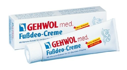GEHWOL med. Fußdeo Creme, 24h, Fußcreme mit Manukaextrakt, Fußpilzschutz, 125 ml