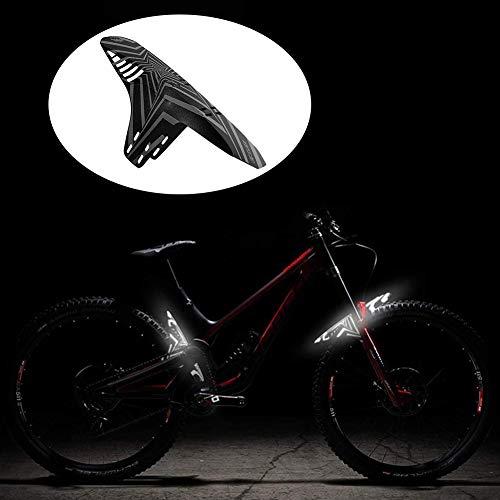 BESLIME 2Pcs Mudguards for Bikes, Bike Fender, MTB Mud Guard Front or Rear Compatible Fits, Reflective MTB Mountain Bike Mudguard (27.5 * 30cm)