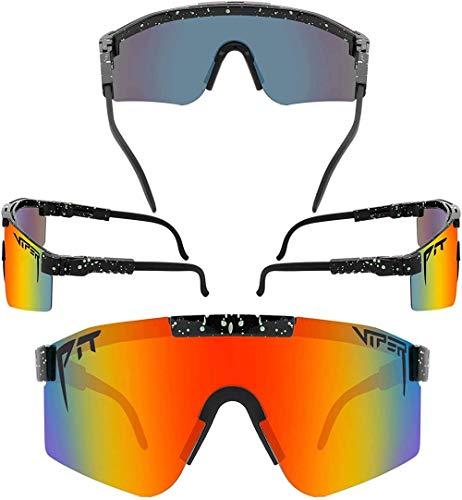 Mzeyuan Gafas de sol con combinación de Pit para ciclismo, unisex, gafas polarizadas UV400, para adultos, béisbol, correr, pesca, golf