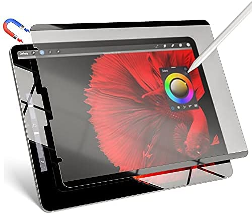iPad Pro 12.9 Inch Screen Protector, Magnetic Like Paper iPad Pro Screen Protector 12.9 5th/4th/3rd Generation(2021 & 2020 & 2018), IPROKKO Removable & Reusable, Anti-Glare, Bubble Free iPad Pro Matte Protective Screen Film For Pencil User and Drawing