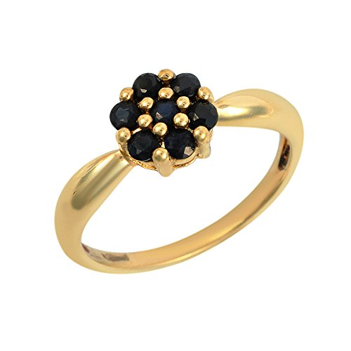 Ivy Gems mujer 9 k (375) oro amarillo redondo negro segunda mano  Se entrega en toda España
