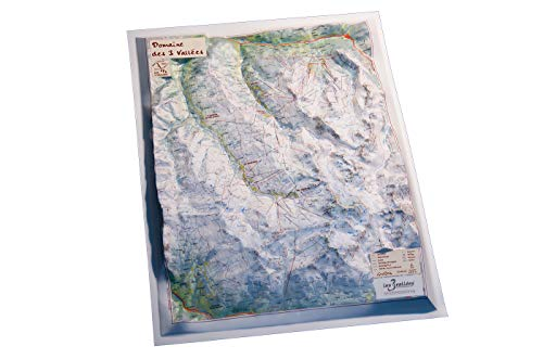 Mapa en relieve de Domaine de 3 Vallées: Escala gráfica