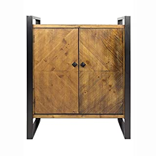 """Heather Ann Creations Anderson Industrial Modern Wood Sideboard Cabinet, 28"""", Brown (B07JM3WBVG) 