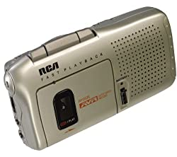 commercial RCA RP3538R Microcassette Recorder, Tan rca cassette recorder