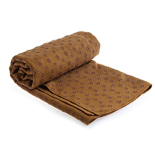DOLOVE Yoga Towel for Hot Yoga Non Slip, Extra Long (63 X 183CM) Dot Grip...