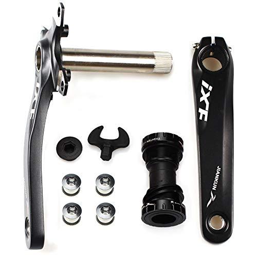 CYSKY Juego de Brazos de manivela para Bicicleta Juego de Brazos de manivela para Bicicleta de montaña 170 mm 104 BCD con Kit de Soporte Inferior y Pernos de Plato para MTB BMX Road Bicyle (Negro)
