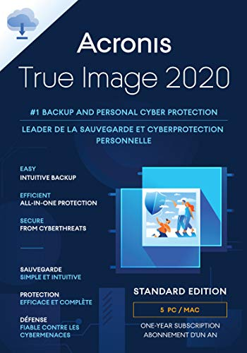 Acronis True Image 2020 | 5 Gerät | PC/Mac | Aktivierungscode per Email