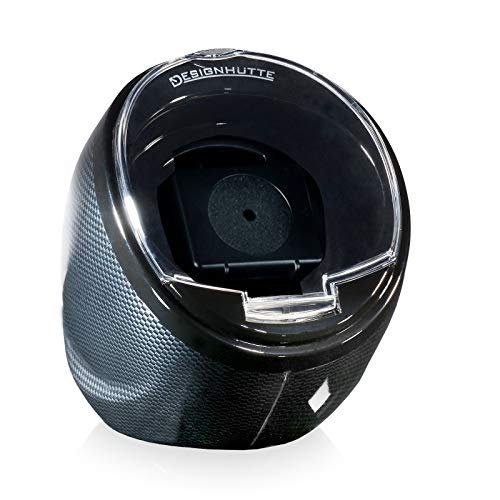 DESIGNHÜTTE® Uhrenbeweger Optimus 2.0 Carbon für 1 Automatikuhr mit LED Beleuchtung