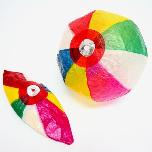紙風船(紙フーセン・紙ふうせん) 約23cm 10枚