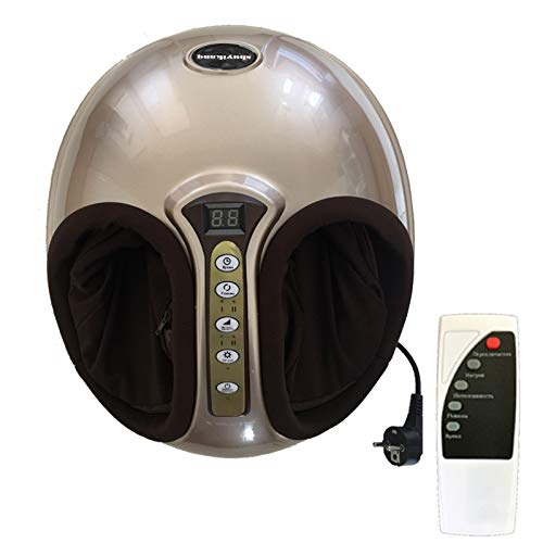 Buy Cheap DDFDSSFF 220V Electric Antistress 3D Shiatsu Kneading Air Pressure Foot Massager Infrared Foot Care Machine Heating Therapy EU Plug