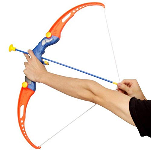 KRIDEZ Bow & Arrow with 3 Cup Suction Arrows Quiver to Hold Target Sport Toy Game Suitable for Kids Boys Girls Shooting Toys Set Sports Indoor | Outdoor Toys Above 5 Years of Age-Multi Color