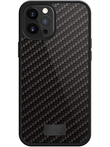 Black Rock - Hülle Protective Hülle Real Carbon passend für Apple iPhone 12 Pro Max | Karbon Handyhülle, Fiber Cover (Carbon Schwarz)