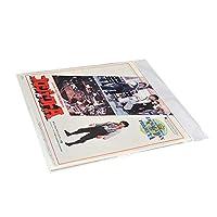 50枚12インチ LP OPP袋 LPレコード用外袋 テープ付きビニール 超厚口0.1mm 320x323+40mm 保護ジャケット·ケース