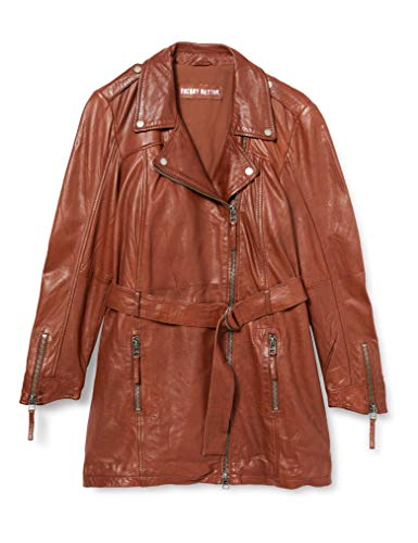 Freaky Nation Autumn Day-FN Cappotto di Pelle, Brandy, XL Donna