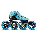 ME-Rollerns Sneaker da Corsa Professionale per Pattini di velocità in Linea da Competizione Blue 36