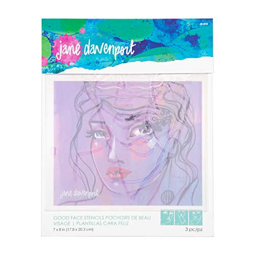 Spellbinders Jane Davenport Good Face Stencils, Teal