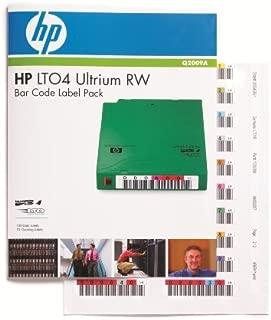 HP Q2009A Ultrium 4 RW Bar Code Label Pack - Bar code labels - for HPE MSL2024, MSL4048, 1/8 G2 Tape Autoloader, LTO-4 Ultrium, StoreEver Ultrium 1840