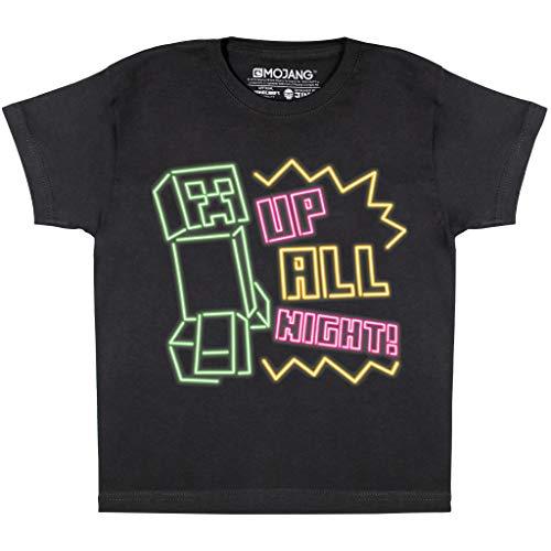 Popgear Boys Minecraft Up All Night Black T-Shirt, 9-10 Years