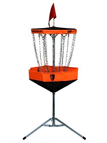 DGA Mach Lite Portable Disc Golf Basket-Orange