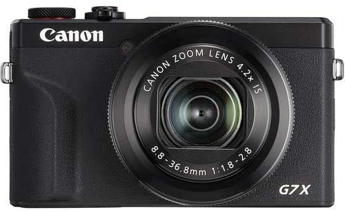 Canon PowerShot G7 X Mark III Camera w/ 1 Inch Sensor & 4k Video - Wi-Fi & Bluetooth Enabled (Black) & LED Video Light, 64GB Transcend Memory Card, Extra Battery + Commander Optics Accessory Bundle