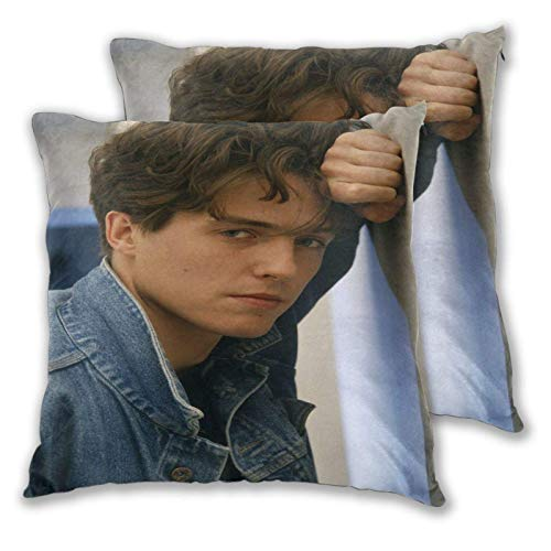 Funda de Almohada Hugh Grant Square Pillow Covers Set of 2, Soft and Cozy Throw Pillow Covers 3D Printed Pillowcase Suitable for Inside and Outside 16