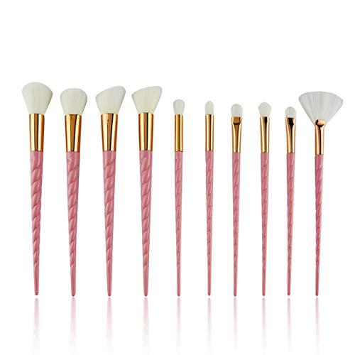 Pinceau Le pinceau fard à paupières avec un pinceau combiné - Jeu de pinceaux de maquillage rose. (Couleur : Rose)