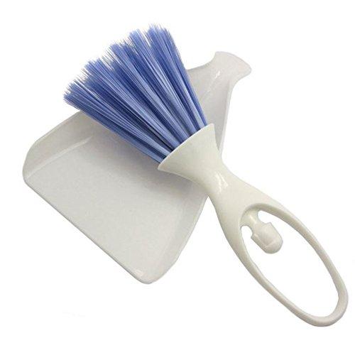 SZMYLED Juego de mini sartén y cepillo para limpieza de pequeñas jaula de animales para reptiles, conejos y hámsteres, cepillos de limpieza de coches, cepillos de mesa y teclado.