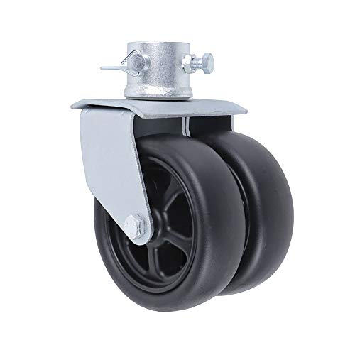 NBJINGYI 6' 1200lbs Dual Trailer Swirl Jack Caster Wheel with Pin fits Any Jack Better Soft Ground Roll