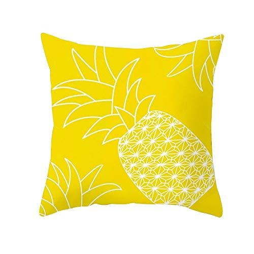 Ananasblatt Gelb Kissenbezug Ananas Print Dekorativer Kissenbezug Gelb Sofa Kissenbezug Kissenbezug A3 45x45cm 1St