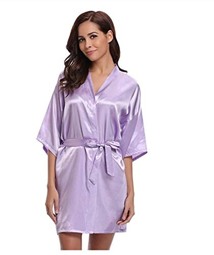 jiushixw Neue Seide Kimono Robe Bademantel Frauen Seide Brautjungfer Roben Sexy Marineblau Roben Satin Robe Damen Bademäntel