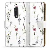 DeinDesign Étui Compatible avec Nokia 5 Étui Folio Étui magnétique Fleurs Produit sous Licence...