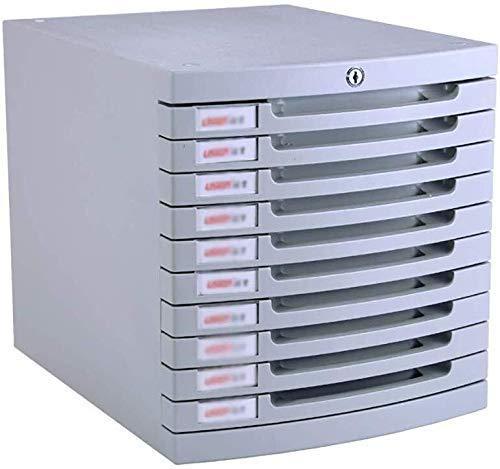 Dossierkasten voor kleine kantoren, afsluitbaar tafelblad desktop-ladekast opslagbox aardewerk wit label plastic (30X38X31.5cm) (kleur: wit)