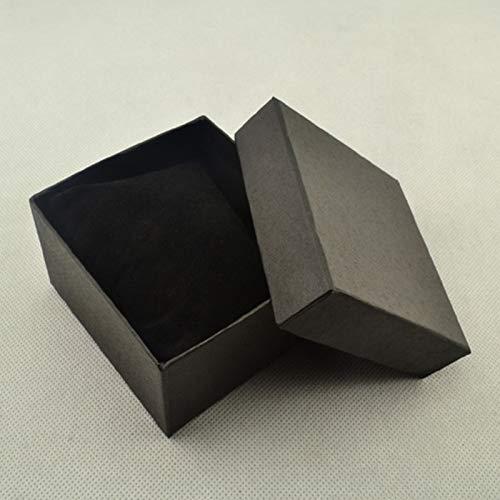 Caja de regalo de cartón, para guardar anillos, pulseras, pendientes, caja de regalo con almohadilla de almohada