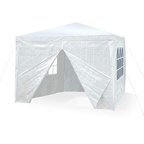 JOM 127134 Gartenpavillon 3 x 3 m, Durchmesser 24/18 mm, weiß