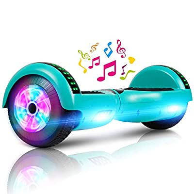 """LIEAGLE 6.5"""" Hoverboard with Bluetooth, Self Balancing Scooter Hover Board for Kids Adults with UL2272 Certified Wheels LED Lights(Green)"""