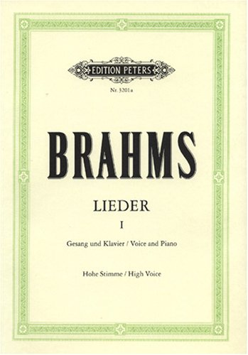 Lieder 1: Gesang und Klavier / Voice and Piano.Hohe Stimme / High Voice