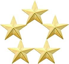 First Class Five Star Rank Collar Lapel Pin Insignia (Pair)