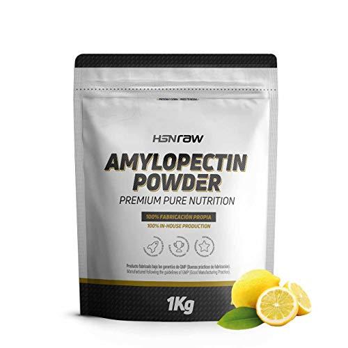 Amilopectina de Maíz (Waxy Maize) de HSN | Amylopectin Powder | Carbohidratos para Deportistas en Polvo | Sin Azúcar | Apto para Veganos, Sin Gluten, Sin Lactosa, Sabor Limón, 1000 gr